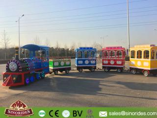 Electric Tourist Train Cartoon Trackless Train Rides for Kids