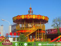 56 Seats Double-deck Luxury Carousel Rides for Sale